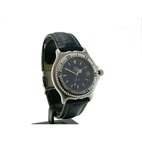 Uhr Tag Heuer Unisex wi2111 Schalter Stahl Quandrante blau Armband Leder