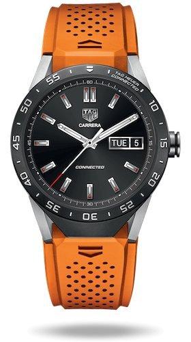 Tag Heuer verbunden Luxus Smart Watch Android iphone orange