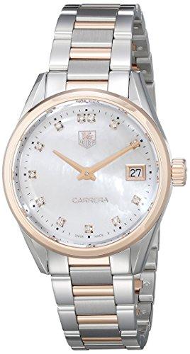 Tag Heuer Damen war1352 bd0779 Carrera Analog Display Swiss Quarz Zweifarbige Armbanduhr
