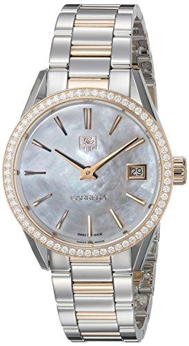 Tag Heuer Damen war1353 bd0774 Carrera Analog Display Swiss Quartz Rose Gold Watch