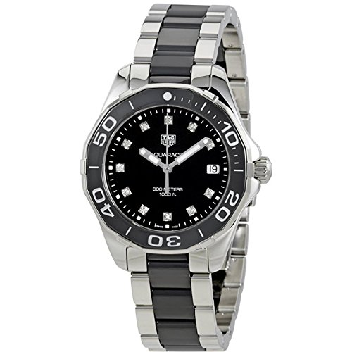 TAG Heuer Aquaracer Diamant 35mm Armband Edelstahl Gehaeuse Quarz Analog WAY131C BA0913