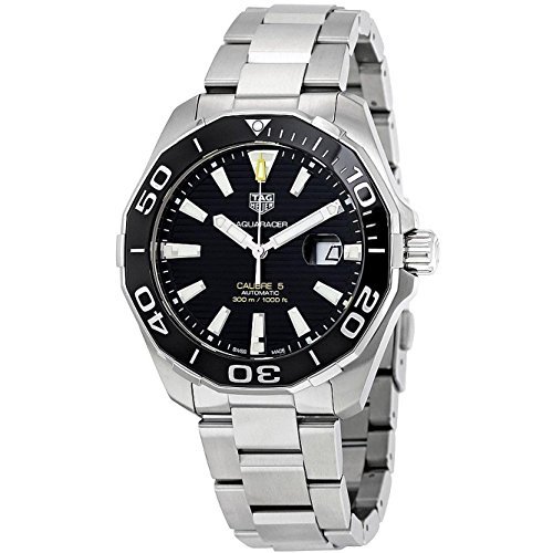 TAG Heuer Aquaracer 43mm Armband Edelstahl Gehaeuse Automatik Analog WAY201A BA0927