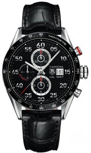 Tag Heuer Carrera Herren 43mm Chronograph Automatikwerk Uhr CAR2A10 FC6235
