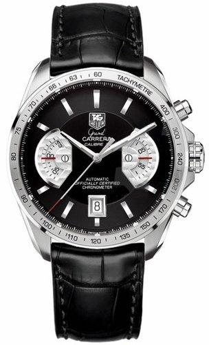 TAG Heuer Herren Armbanduhr Analog Automatik Leder Schwarz CAV511A FC6225