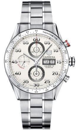TAG Heuer Herren Armbanduhr Analog Automatik edelstahl Grau CV2A11 BA0796