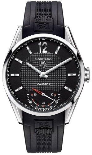 TAG Heuer Herren Armbanduhr Analog Automatik Gummi Schwarz WV3010 EB0025