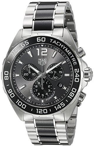TAG Heuer 43mm Armband Edelstahl Gehaeuse Schweizer Quarz Chronograph CAZ1011 BA0843
