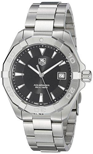 TAG Heuer Herren Armbanduhr 40 5mm Armband Edelstahl Gehaeuse Saphirglas Schweizer Quarz WAY1110 BA0928