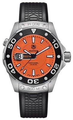 TAG Heuer Herren Armbanduhr Analog Gummi Schwarz WAJ1113 FT6015