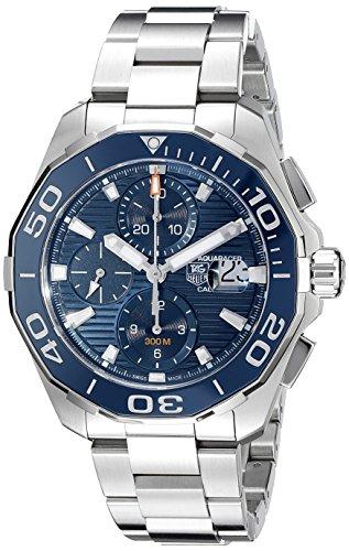 TAG Heuer Herren Armbanduhr Armband Edelstahl Gehaeuse Automatik Zifferblatt Blau CAY211B BA0927