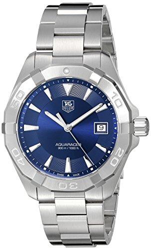 TAG Heuer 40 5mm Armband Edelstahl Gehaeuse Quarz Zifferblatt Blau WAY1112 BA0928