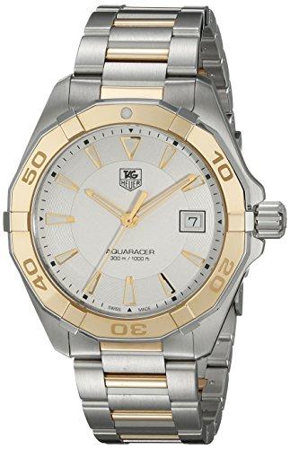 TAG Heuer Armband Zweifaerbiger Edelstahl Zwei Ton Schweizer Quarz Analog WAY1151 BD0912