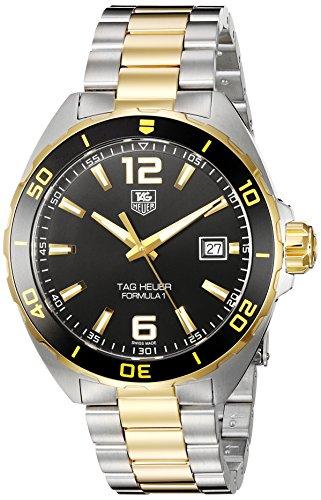 TAG Heuer Herren Armbanduhr 41mm Armband Zweifaerbiger Edelstahl Zwei Ton Schweizer Quarz WAZ1121 BB0879