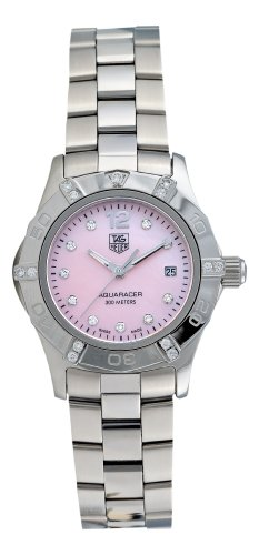 TAG Heuer Damen WAF141H BA0824 Aquaracer Diamant Rosa Mother of Pearl Zifferblatt