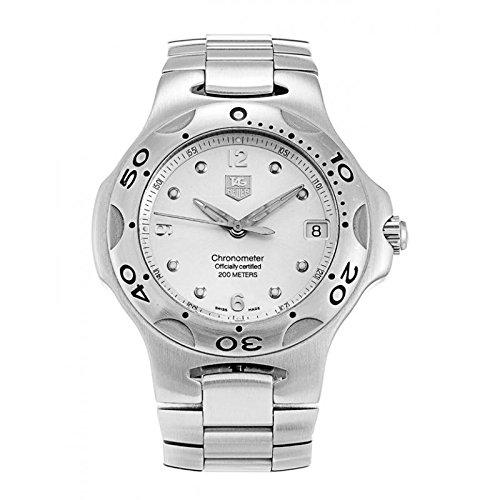 Uhr Tag Heuer Unisex wl5110 Quarz Batterie Stahl Quandrante Silber Armband Stahl