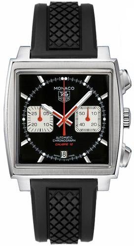 TAG HEUER MONACO MENS STAINLESS STEEL CASE CHRONOGRAPH UHR CAW2114 FT6021