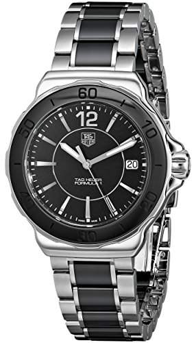 TAG HEUER FORMULA 1 LADY WOMENS STAINLESS STEEL CASE DATE UHR WAH1210BA0859