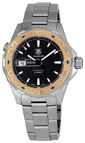 TAG Heuer Herren WAJ2150BA0870 Aquaracer Black Dial Uhr