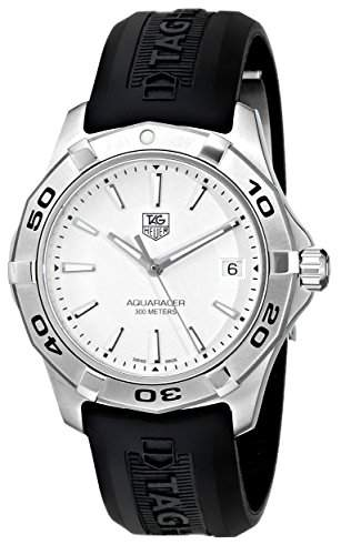 Tag Heuer Maenner WAP1111FT6029 Aquaracer Stainless Steel White Zifferblatt