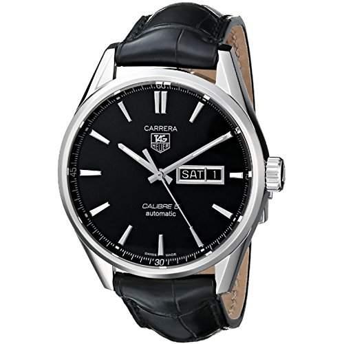 TAG Heuer Herren-Armbanduhr 41mm Armband Synthetikleder Schwarz Gehäuse Edelstahl Automatik WAR201AFC6266