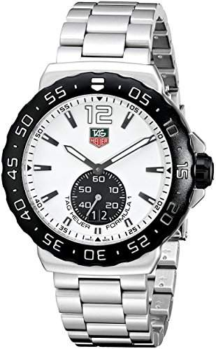 TAG HEUER F1 MENS STAINLESS STEEL CASE DATE SAPPHIRE GLASS UHR WAU1111BA0858