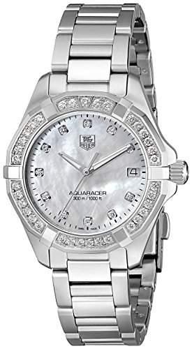 TAG Heuer Aquaracer Ladies Diamonds MOP Diamanten Damenuhr Gehaeuse Edelstahl Band Edelstahl Zifferblatt perlmutt Diamantenbesatz