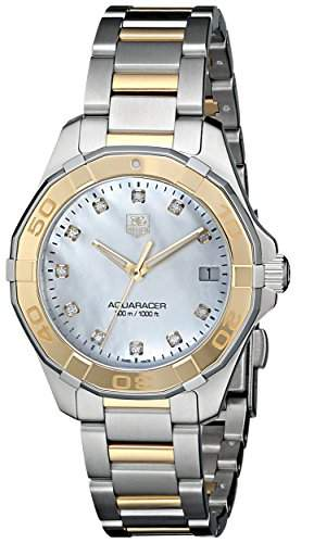 TAG HEUER AQUARACER DAMEN DIAMANTEN 32MM SAPHIRGLAS DATUM UHR WAY1351BD0917