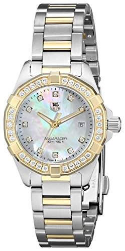 Tag Heuer Aquaracer Mutter von Pearl Diamant Zifferblatt Damen Watch way1453 bd0922
