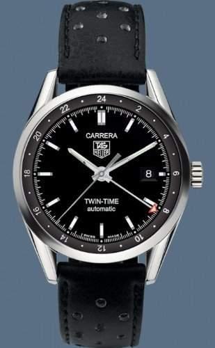 TAG Heuer Herren-Armbanduhr Analog Automatik Leder Schwarz WJF1152BB0579