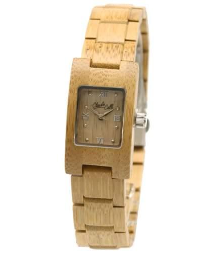 Claudio Calli Unisex Armbanduhr aus Holz CAL6503 Beige Analog Quarz