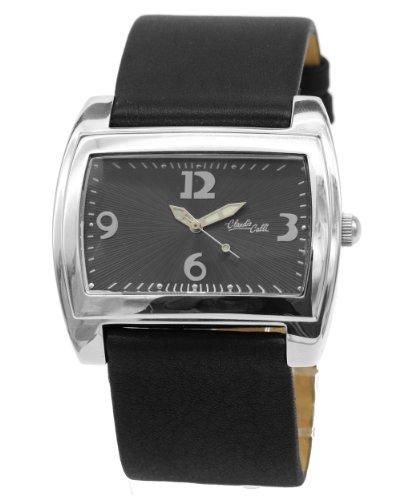 Claudio Calli Damen Armbanduhr CAL 8380 105 von Edelstahl mit Lederarmband
