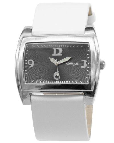 Claudio Calli Damen Armbanduhr CAL 8380 510 von Edelstahl mit Lederarmband