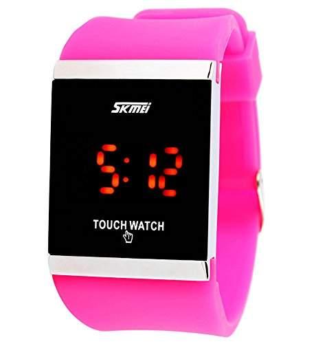 ufengke® mode rechteck zifferblatt silikonband freizeit fuehrte touch armbanduhren,kleiden locker laessig wahl frauen maedchen handgelenk armbanduhren,rote rose
