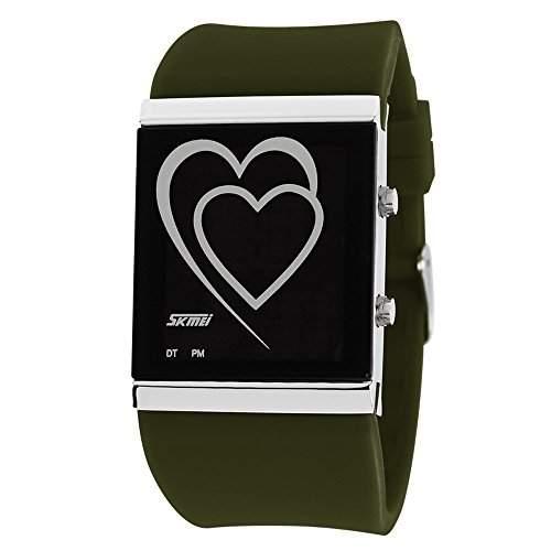 ufengke® kreative herz fuehrte digitalen gelee armbanduhren,paar paar liebhaber romantischer liebe erzaehlen geschenk handgelenk armbanduhren,rote rose