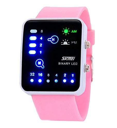 ufengke® mode rechteck zifferblatt binaere led wasserdicht handgelenk armbanduhren,einzigartige nachtlicht sport armbanduhren fuer mannfrauen,blau