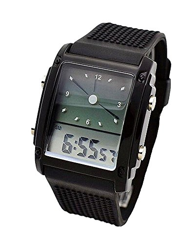 SAMGU Gummi flash Led Uhr Vogue Fashion Sport Armbanduhr Doppel Display Digital uhr Farbe Schwarz