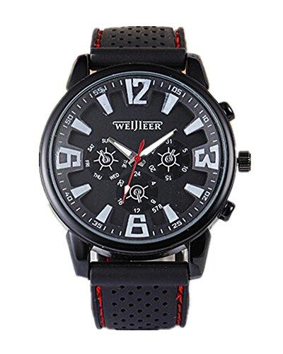 SAMGU Beilaeufige Quarz Uhr Mann Militaeruhren Sport Armbanduhr