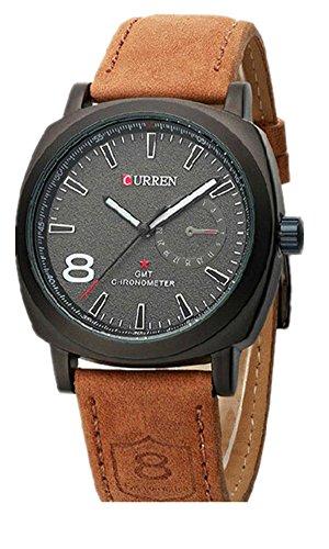 SAMGU Leder sport uhr maenner Military Armbanduhr Aussen Coole Uhr Farbe Schwarz