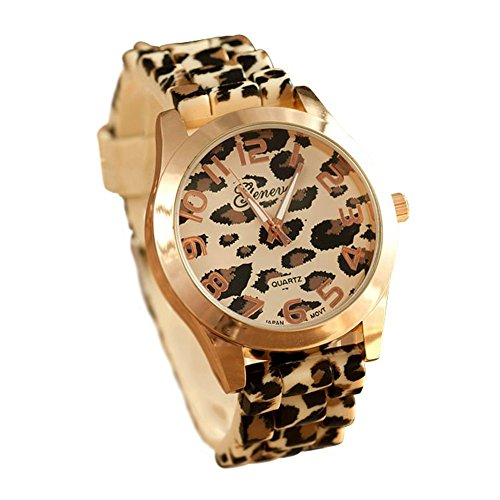 SAMGU New Design Genf Leopard Silikon Gelee Gel Quarz analoge Armbanduhr