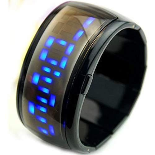 SAMGU Kunststoff Unisex Led Uhr Sport Armbanduhr Vogue Mode digital uhr Stretch armband uhr Farbe Schwarz