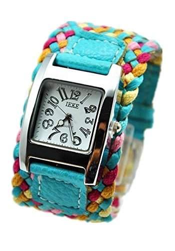 SAMGU Geflochtenen Seil uhr frauen schnur armband uhr quarz armbanduhr Weaved Ferien Stil Farbe Blau