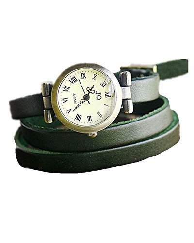 SAMGU PU leder armband uhr dame armbanduhr Retro kleid uhr Farbe Gruen