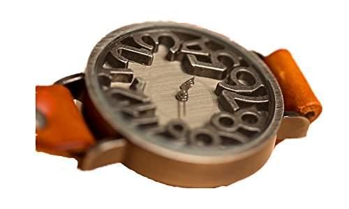 SAMGU Lederarmbanduhr Vintage Design Casual Uhr Frauen kleid uhr Mit 3d nummer Farbe Orange