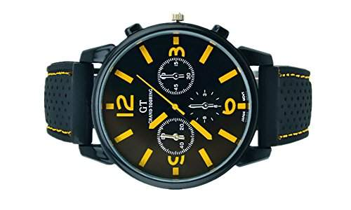 SAMGU Rubber Racing Luxus uhr Herren sport uhr 2014 New Fashion Watch Farbe Gelb