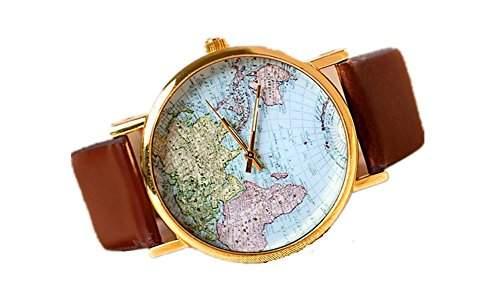 SAMGU Leder Unisex uhr quarz uhr Karte Roségold Zifferblatt Kleid Zu Sehen Maenner Analoge Armbanduhren Farbe Brown