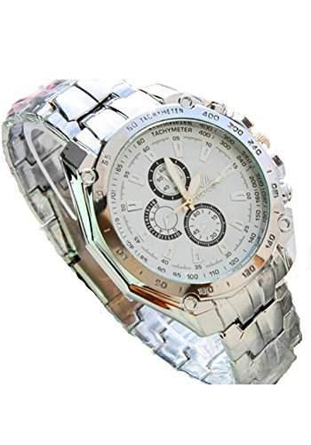 SAMGU Stahl Herren Uhren Business Quarz Uhr Luxus Sport Armbanduhr Farbe Silber