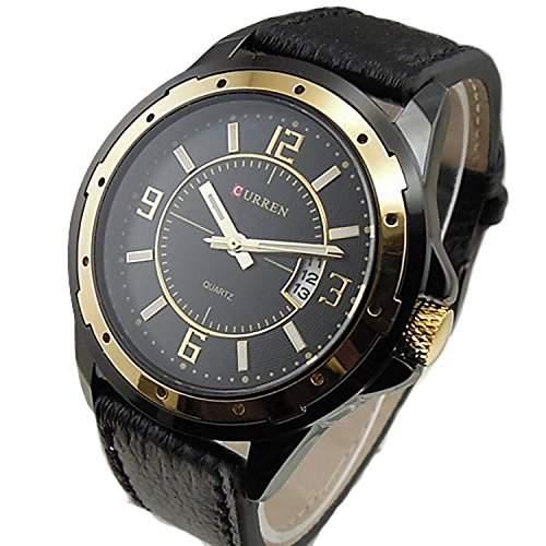 SAMGU Luxurioes Quarz Uhr Herren Leder Armbanduhr Unternehmen Herrenuhr Kalender