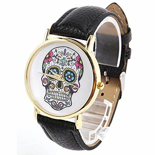 SAMGU Quarz Uhr Art und Weiseschaedel Uhren Skull watches Farbe schwarz
