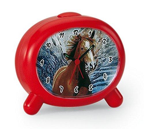 Atlanta Kinderwecker Pferde mit Tiergeraeusch Rot fuer Maedchen 1183 1P