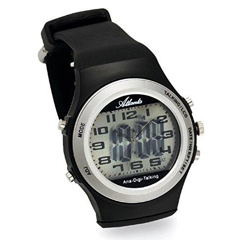 Atlanta Sprechende Armbanduhr Analog Digital LCD 9281